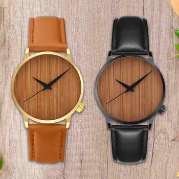 Dorywczo mody drewniane zegarki męskie i damskie zegarki gorąca sprzedaży drewniane zegarki zegarki bambusowe prosty prezent часы мужские tanie i dobre opinie 22cm Moda casual QUARTZ Nie wodoodporne Klamra Stop 10mm Szkło Nie pakiet STAINLESS STEEL 41mm Men s Watch 18mm ROUND