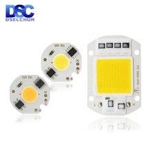 LEDชิปCOB 10W 20W 30W 50W 220Vสมาร์ทICไม่จำเป็นต้องขับรถLED 3W 5W 7W 9Wสำหรับไฟน้ำท่วมSpotlight DIYแสง