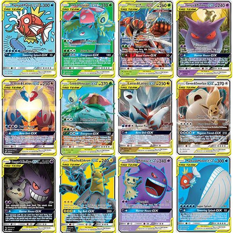 Pokemon English Version Battle Collection Flashcard New TAG TEAM GX Cards 20 30 60 TAG TEAM Kids Toy Gift