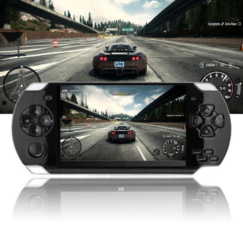 PSP כף יד קונסולת משחקי 4.3 אינץ תמיכת נגן MP5 MP4 MP3 עם מסך 8G Easy מבצע עבור משחק PSP, מצלמה, וידאו, ספר אלקטרוני (1)