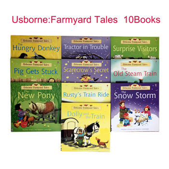 10 books/set 20x21cm Usborne Best Picture Books Children Baby famous Story English Farmyard Tales Series Farm story