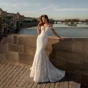 Image 3 - Sexy Lace Mermaid Wedding Dress 2020 Boho Lace Applique Off Shoulder Bohemian Wedding Gowns Bridal Dress Custom Made