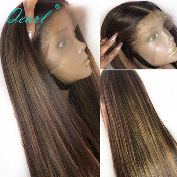 Straight Lace Front Human Hair Wigs PrePlucked Glueless Ombre Highlights Blonde Color Lace Wig 13x4/13x6 Remy Hair Qearl long human hair lace front wig 13x4 ombre 2 60 color brazilian virgin hair straight blonde lace front wigs 150 180 density qearl