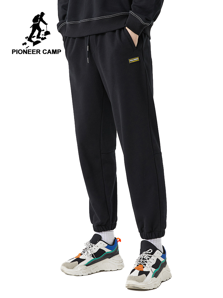Pioneer Camp New Spring Causal Pants Men Fitness Sportswear Straight Black Gray  Sweatpants Trousers Gyms Jogger AZZ0102031
