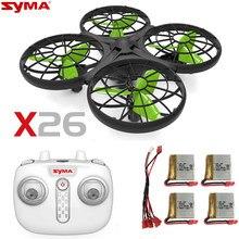 Syma x26 rc helicóptero mini rc drone infravermelho obstáculo evitar sensorial brinquedos de controle remoto aeronaves brinquedos para crianças brinquedo