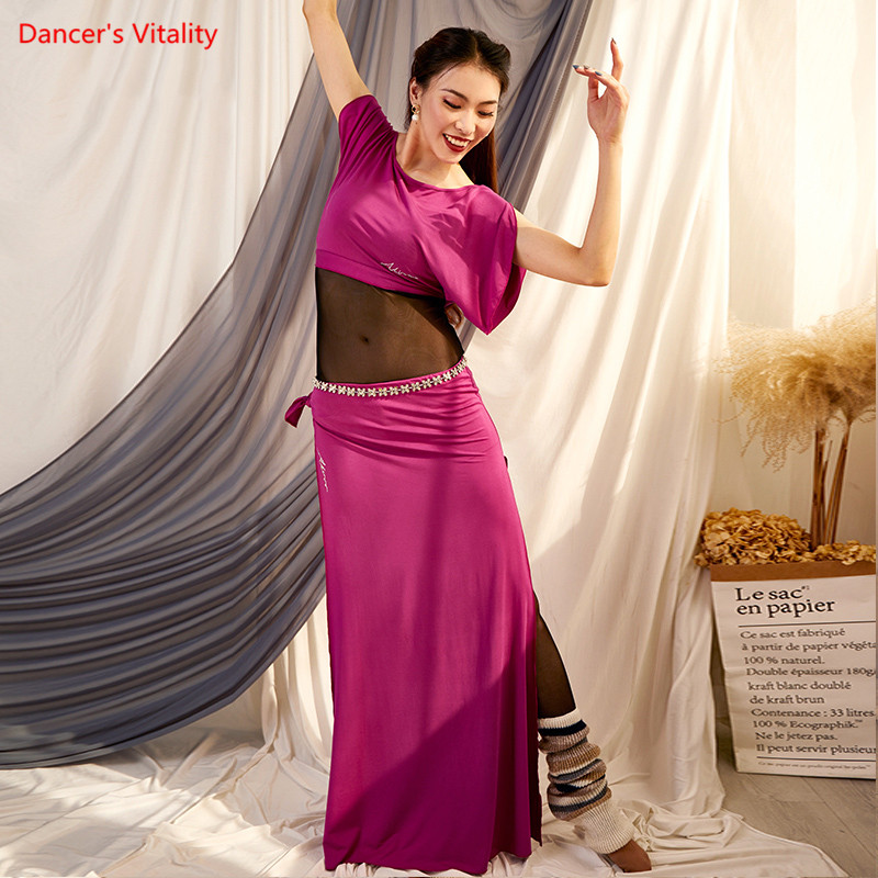 Belly Bance Practice Clothes Autumn And Winter New Modal Suit Oriental Dance Clothes Performance Clothing Women