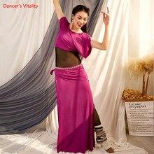 Ventre Bance pratique vêtements automne et hiver nouveau Modal costume Oriental danse vêtements Performance vêtements femmes