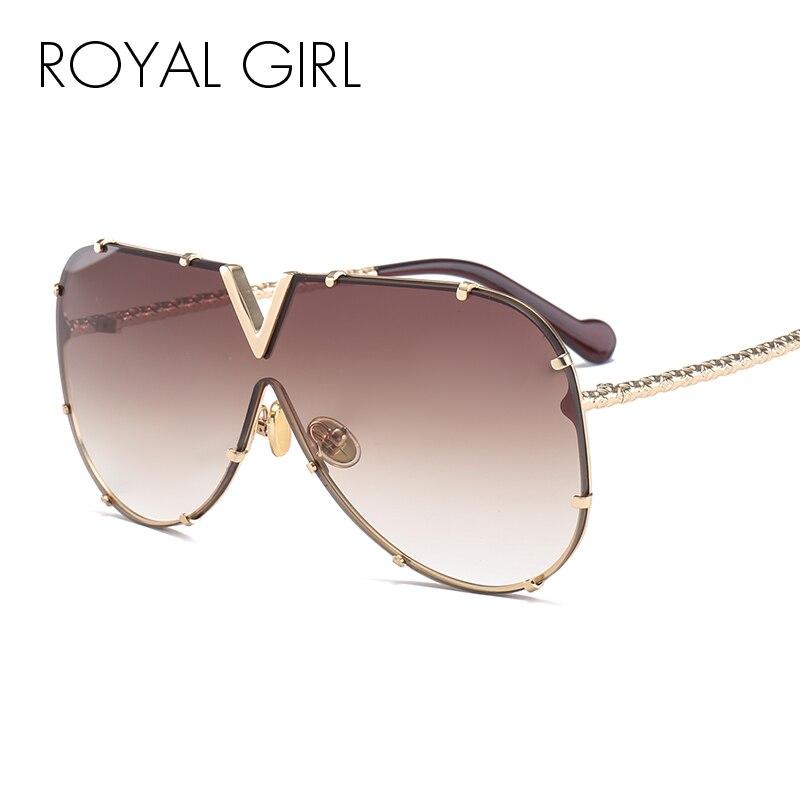 ROYAL MÄDCHEN 2020 Neue Sonnenbrille Männer Frauen Marke Design Metall Rahmen Übergroßen Persönlichkeit Hohe Qualität Unisex Sonnenbrille MS678