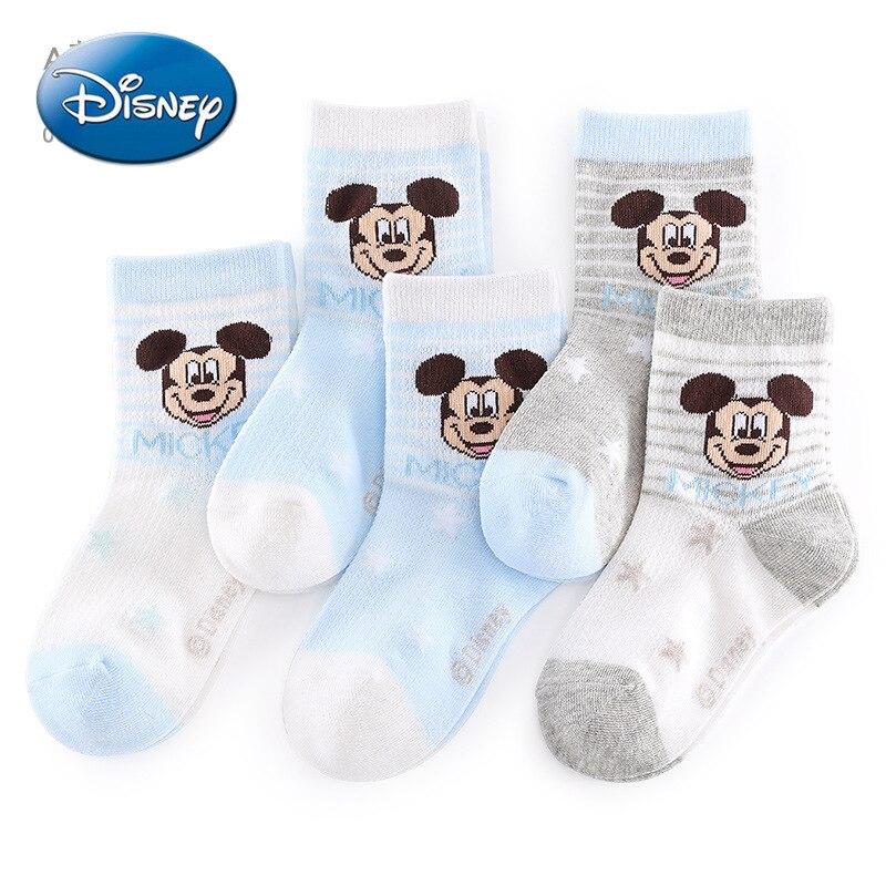 Disney Mickey Mouse Children's Socks Spring and Summer Mesh Pure Socks Boys Boys Preschool Baby Short