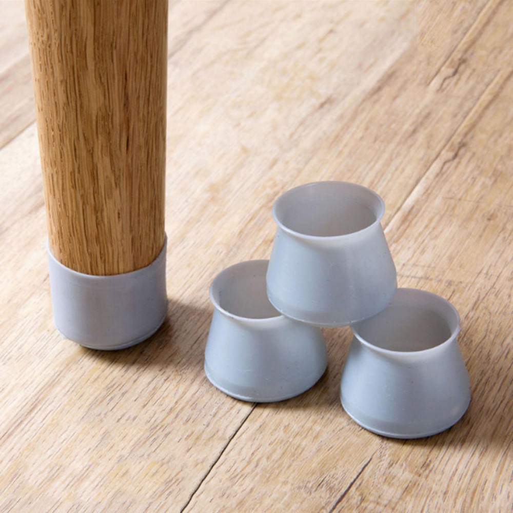 8pcs Silicone Chair Leg Cup Furniture Table Cover Floor Protectors Desk Chair Leg Protective Non-Slip Cups Furniture Parts