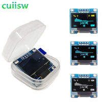 Amarelo-azul cor dupla branco 128x64 oled lcd display led módulo para arduino 0.96
