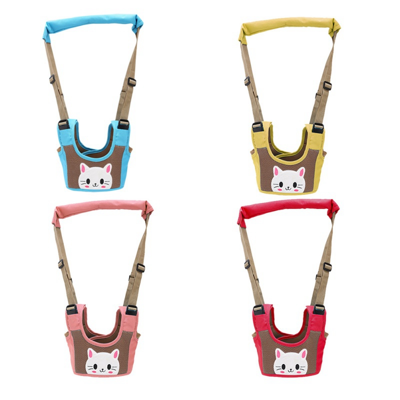 Cute Cartoon Baby Walking Assistant Infant Safety Harnesses Belt Kids Adjustable Strap Leashes