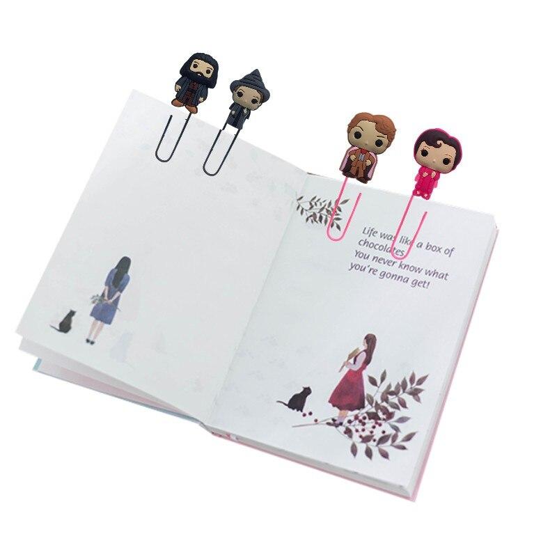 Милые закладки для книги, книги, бумажные зажимы, горячая фигура, офис, сделай сам, кино, поставка канцелярских товаров, Подарочная марка
