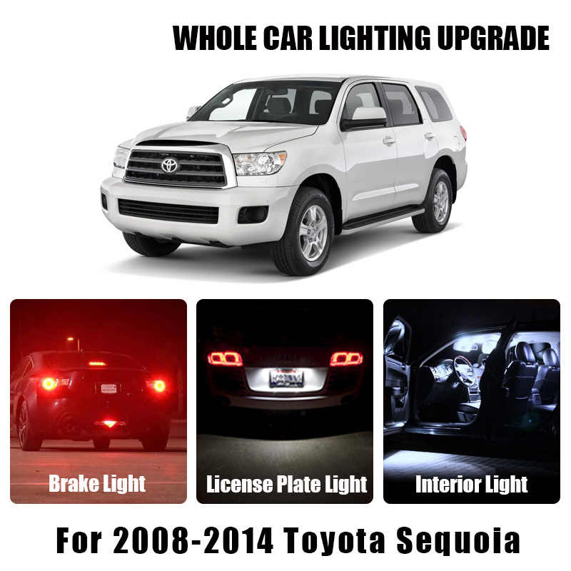 Brake Parking Reverse Light White Amber Auto Led Lampen Voor 2008-2014 Toyota Sequoia Richtingaanwijzer Lamp Exterieur Interieur led Licht