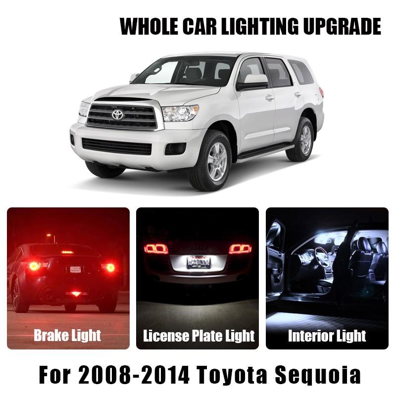 Brake Parking Reverse Light White Amber Car LED Bulbs For 2008-2014 Toyota Sequoia Turn Signal Lamp Exterior Interior LED Light