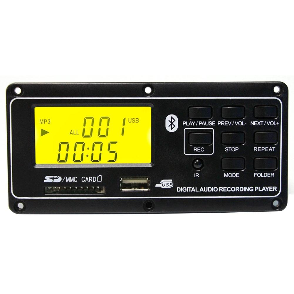 MP3 Player FM Accessories Led Bluetooth Board Remote Control USB Aux Module  Card Digital Small Audio Decoder