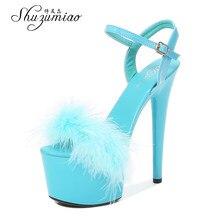 Sapatos femininos 2021 novo verão sandálias de pele stripers saltos plataforma 13 15 17 20 cm salto alto sexy senhoras sandálias de casamento