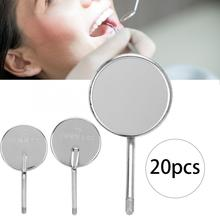 20Pcs Dental Mouth Mirror Head Stainless Steel Detachable Odontoscope Mirror Head Dental Tool Oral Care Teeth Clean for Dentist