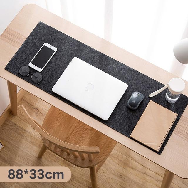 Large XXL Office Computer Desk Mat Table Keyboard Big Mouse Pad Wool Felt Laptop Cushion Desk Non-slip Mat Gamer Mousepad Mat 2