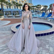 Lemon joyce vestidos para graduación de color verde, Sexy, con cuello en V, rebordear, brillantes, Dubai, vestidos de gala de talla grande, 2020