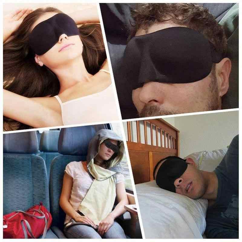 1Pcs 3D 수면 마스크 자연 슬리핑 아이 마스크 아이 섀도우 커버 그늘 아이 패치 여성 남성 소프트 휴대용 눈 가리개 여행 아이 패치
