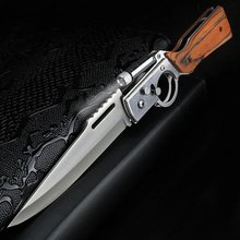 XUANFENG outdoor multi function folding knife small flashlight camping knife tactical portable knife wild survival knife