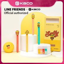 Kaco Highlight Pen 4PCS/Pack Line Friends Watercolor Pen Highlight Pens With Extract Index Post For School Office Note Remark