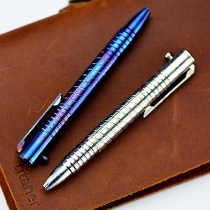 Image 5 - EDC titanyum alaşımlı kendini savunma Survival güvenlik taktik kalem kalem yazı tahtası ile çok fonksiyonlu EDC araçları