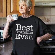 T-shirt pour grand-mère et grand-parents femmes, haut graphique, Harajuku, été