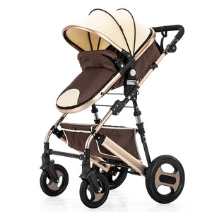 Image 4 - High view stroller light folding ultralight can sit and lie portable baby cart simple umbrella car