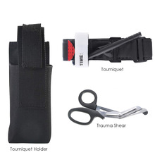 One Hand Tourniquet Trauma Shear Molle Pouch First Aid Kit for Car Vehicle Outdoor Medical Equipment one hand tourniquet trauma shear molle pouch first aid kit for car vehicle outdoor camping hiking travel molle medical pouch