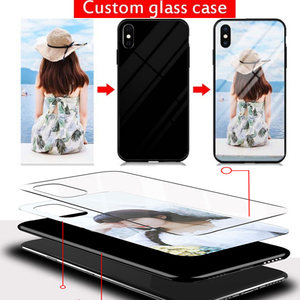 Image 2 - Customized Phone Case For Oppo Reno5 Z Glass Case Customized Picture Name OPPO A95 5G A94 5G F19Pro+ Cover Photo Cases DIY Make