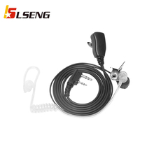Walkie Talkie Earpiece with Mic (Includes Earmolds and Ear Buds) 2 Pin Acoustic Tube Headset for Retevis H-777 RT21 RT22 Baofeng