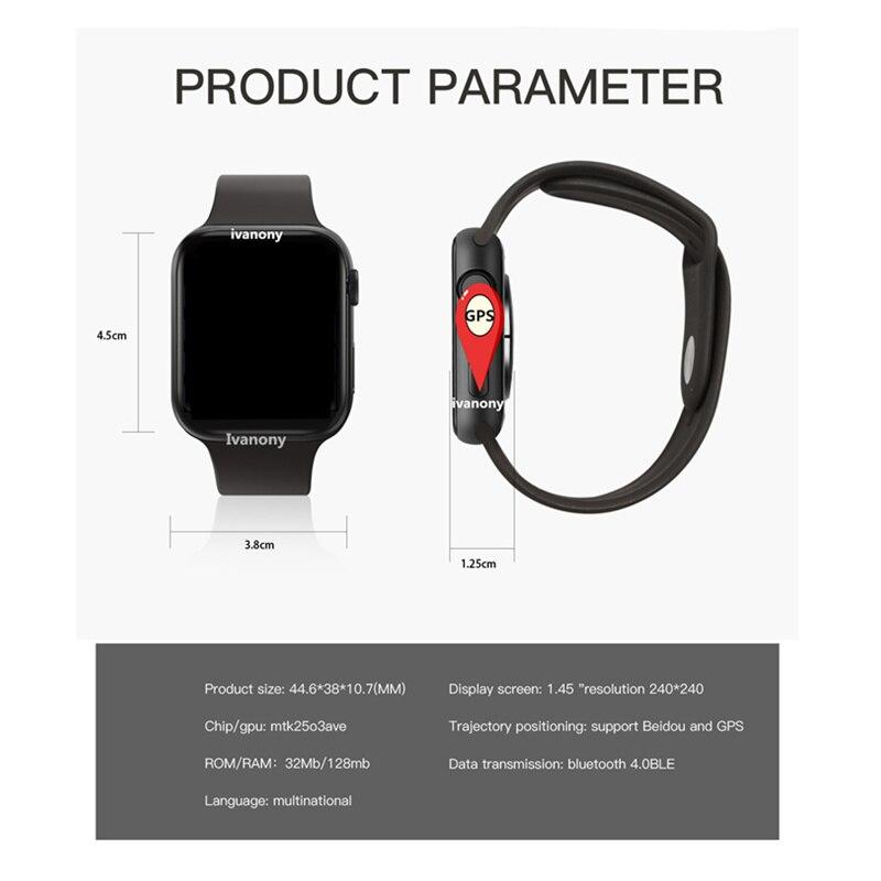 GPS SmartWatch IWO 11 Smart Watch Women IWO11 Heart Rate Monitor Call Message Reminder for Iphone Android VS IWO 9 IWO 8 W34 - 2