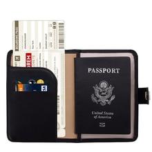 Blocking Travel Passport Holder Cover Slim Id Card Case Travel bag Passport Protector travel accessories Wallets Baibilun