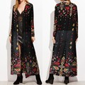 Bohemian Gedruckt Cover Up frauen Chiffon Bluse 2021 ZANZEA Langarm Kimono Weibliche Casual Strand Strickjacken Plus Größe Tunika 5X