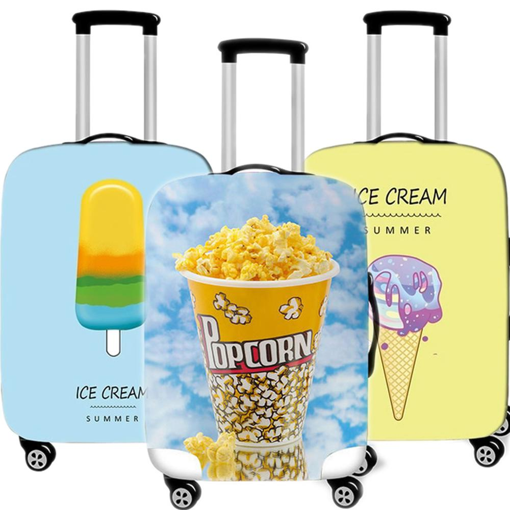 Kawaii Ice Cream 3D Luggage Case Protective Cover Waterproof Thicken Elastic Suitcase Cover Apply 18-32 Inch Travel Accessorie