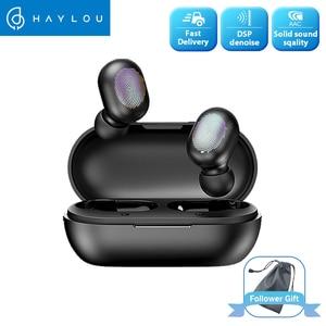 Image 1 - Haylou Gt1 Tws אמיתי אלחוטי Bluetooth אוזניות טביעת אצבע מגע HD סטריאו הפחתת רעש אוזניות