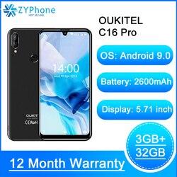 Мобильный телефон OUKITEL C16 Pro, 5,71-дюймовый экран 19:9 Waterdrop, Android 9.0, MT6761P 3 ГБ+ 32 ГБ, сканер отпечатков пальцев и лица, 5 В/1 A, 4G смартфон