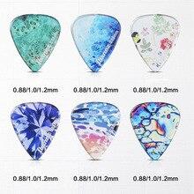 цена на Ibanez KALEIDO Series Guitar Picks for Mediator Acoustic Electric Guitarra Ukulele Accessories Transparent Colorful Guitar Pick