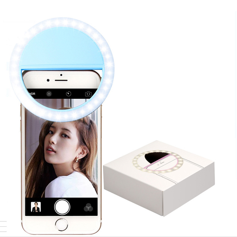 Pink 36LED Selfie Night Light With 3 levels Lighting Night For Cell Phone Photo Lights 22