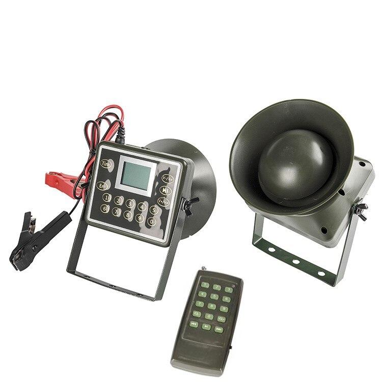 PDDHKK 2x60 W 160dB haut-parleur à distance oiseau appelant oie canard hibou chasse leurre 300 voix d'oiseaux avec minuterie lecteur MP3 haut-parleur
