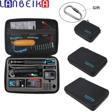 LANBEIKA 휴대용 운반 가방 보호 케이스 상자 GoPro 영웅을위한 3 크기 핸드백 9 8 7 6 5 4 YI SJCAM DJI OSMO 액세서리
