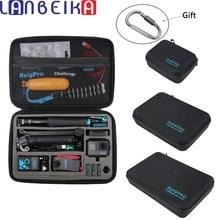 LANBEIKA Portable Carry Storage Bag Protective Case Box 3 Size Handbag For GoPro Hero 9 8 7 6 5 4 YI SJCAM DJI OSMO Accessories