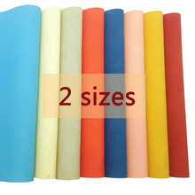 2Sizes Soft Leather Fabric Sheets Dots Cotton Solid Snynthetic Hair bows Materials Handmade Bag Shoes Home Texile