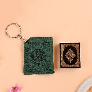 Image 5 - Mini Islamischen Muslimischen Arche Quran Buch Schlüssel Kette Ring Auto Tasche Geldbörse Echte Papier Können Lesen Anhänger Charme Muslimischen Schmuck