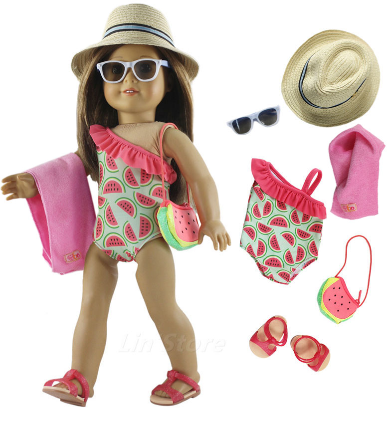 1 Set Doll Clothes Swimming Suit For 18 Inch American Doll Many Style For Choice