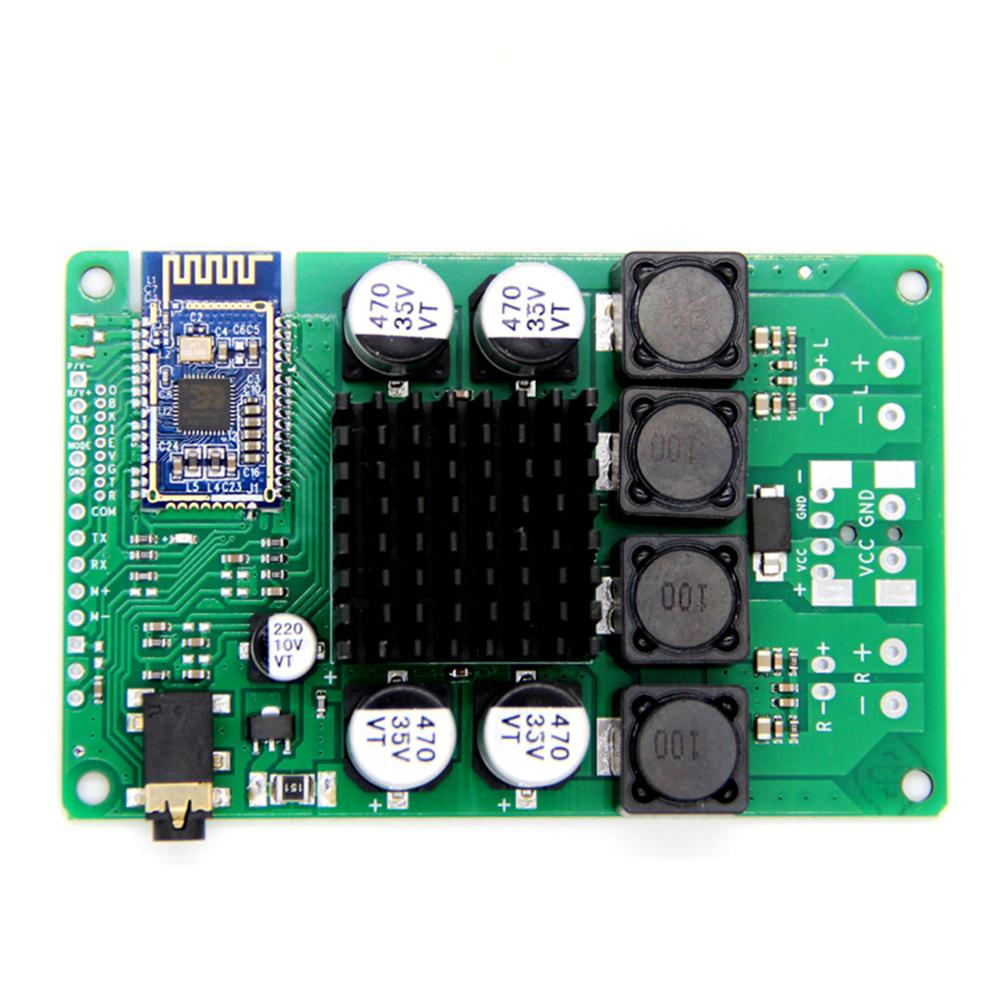 Taidacent Serial Command Programmable 2*100 Watt Bk3266 Bluetooth 5.0 Amplifier Amp Board With Aux Input
