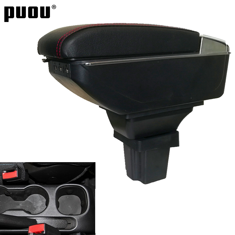 Вращающийся контейнер для хранения Для Chevrolet Trax Tracker/модель Holden Trax 2013-2017, подлокотник центральной консоли с пепельницей и USB-зарядкой