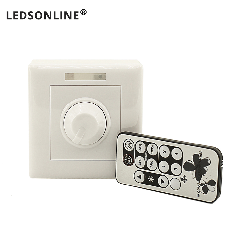 IR Remote Dimmer Controller For Spot Led Lights Switch Dimmable Adjustable Brightness Downlight Spotlight Bulb Lamps Module